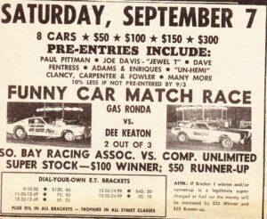 Classic Drag Racing Advertising
