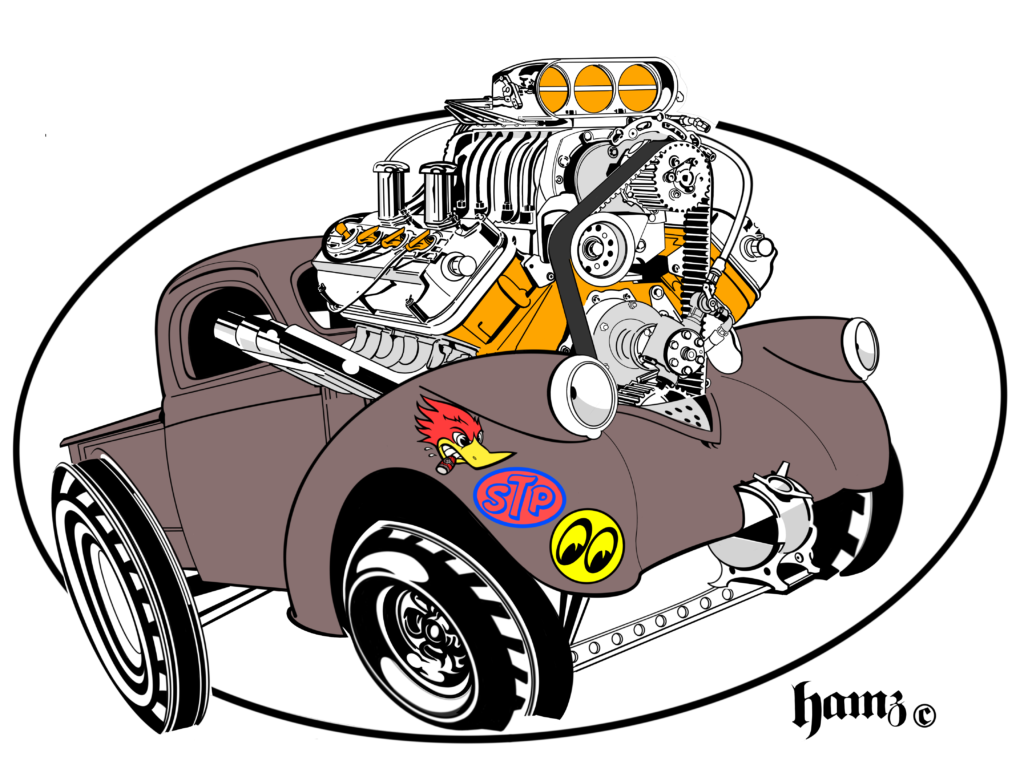 Cool hot rod shirts 1938 Willys pickup Gasser