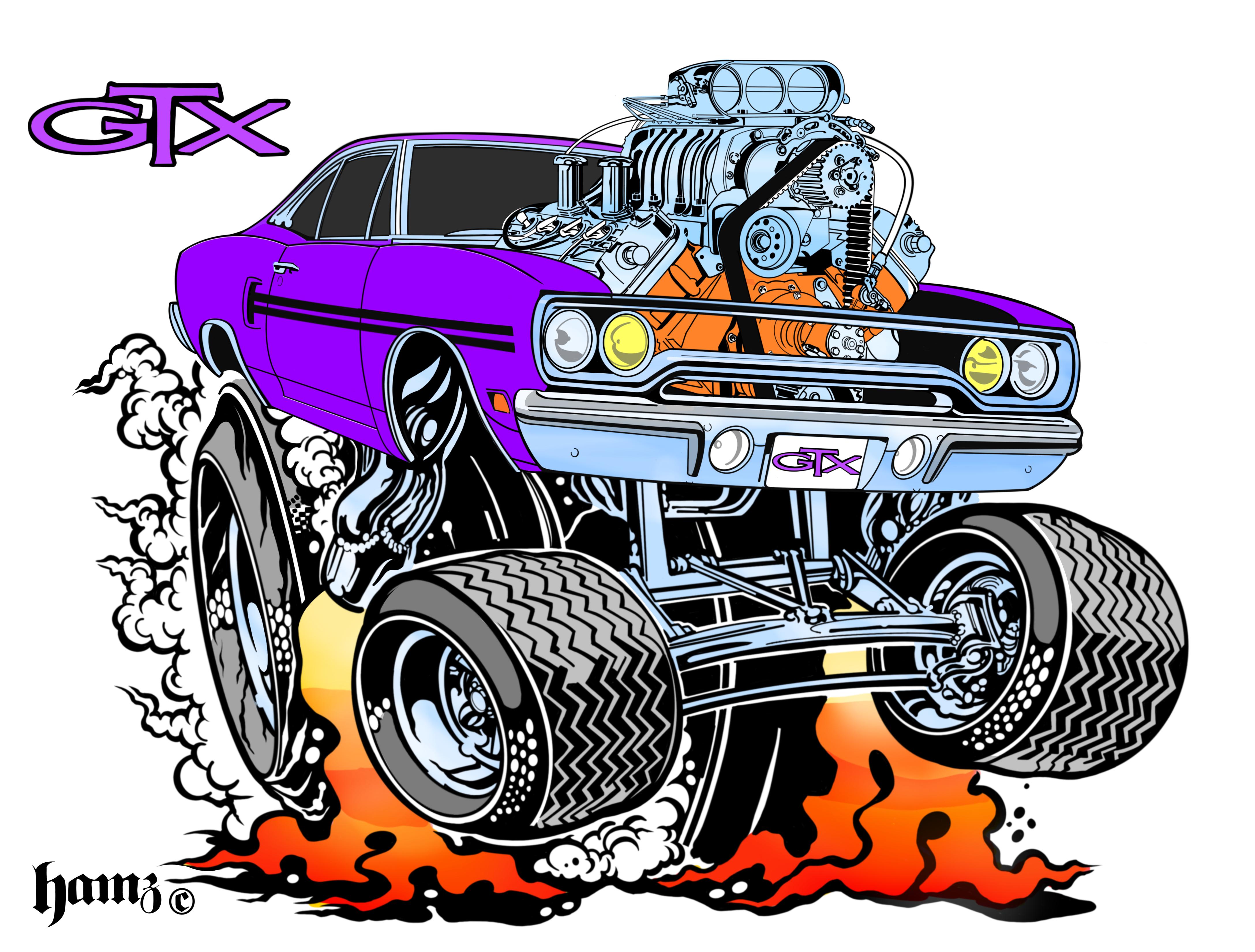 70 GTX drag racing t shirt