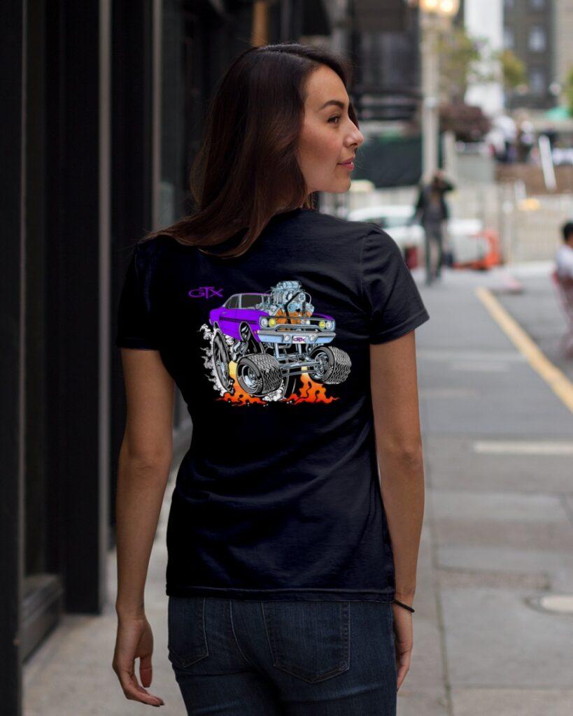 Custom drag racing shirts for women